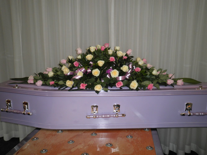 Bribie with Large Coffin Spray Roses