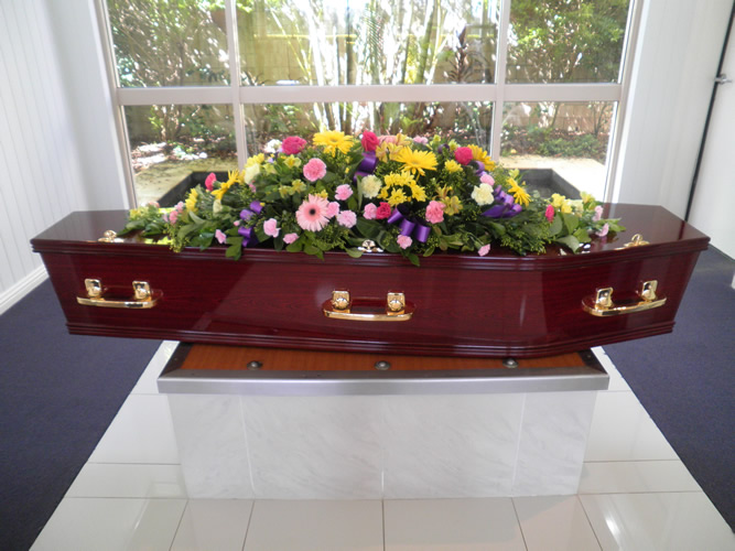 Moreton Rose with Large Coffin Spray